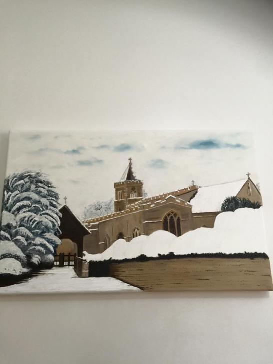 All Saint's Church in winter